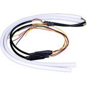 ΣΕΤ DRL - Φώτα Ημέρας για Φανάρι Αυτοκινήτου Λευκό + Πορτοκαλί για Φλας 45cm 12 Volt GloboStar 55111