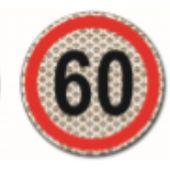 Αυτοκόλλητο Σημα Ταχυτητας 60 3M Σ.Π.501 24622 OEM