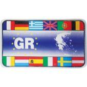"""Αυτοκόλλητο Κρύσταλλο """"Gr-Σημαιες"""" 7.5Χ4.5Cm 20015 OEM"""