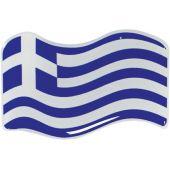 Αυτοκόλλητο Κρύσταλλο Σημαια Ελληνικη Κυματ. 8Χ5Cm 20025 OEM
