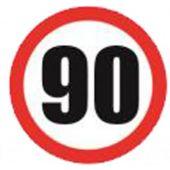 Αυτοκόλλητο Σημα Ταχυτητας 90 Απλο Σ.Π.504 24606 OEM