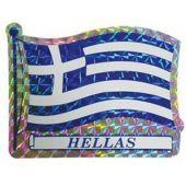 Αυτοκόλλητο Σημαια Hellas Μικρη Απλη Αδ.618 6Χ7.5Cm 24558 OEM