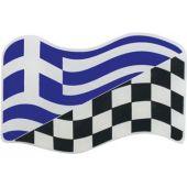 Αυτοκόλλητο Κρύσταλλο Σημαια Ελληνικη - Αγωνιστικη 20932 OEM