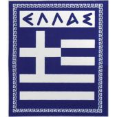 """Αυτοκόλλητο Σημαια """"Ελλας"""" Απλη Μεγαλη 7Χ8Cm 24557 OEM"""