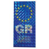 """Αυτοκόλλητο """"Gr - Αστερια"""" Σημαια Πινακιδας Πρισμα Αδ.604 24550 OEM"""