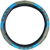 Κάλυμμα Τιμονιού Pvc Γκρι - Μπλε 99010 OEM