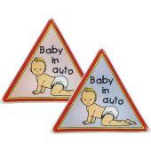 """Αυτοκόλλητο """"Μωρο Στο Αυτοκινητο"""" 8.5*8.5 Κρυσταλλο 20029 OEM"""