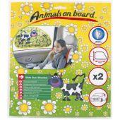 """Ηλιοπροστασία 65Χ38Cm Aob538V Cow """"Animals On Board"""" 2Τεμ 13361 OEM"""