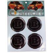 """Αυτοκόλλητο Ζαντων Smart """"B"""" 4 Τεμ 42061 OEM"""