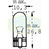 Λάμπα Trifa 1732 T10 12V W5W Minion W2.1X9.5 35537 Trifa
