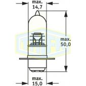 Λάμπα Trifa Moto 00455 12V 35/35W P15D-1 35591 Trifa