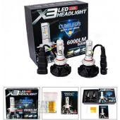 Led Kit X3 Headlight H1-H3-H7-H11 6000Lm 50W 16931 OEM
