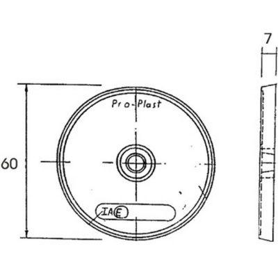 Αντανακλαστικά Στρογγυλά 60Mm Με Βιδα Ασπρο 26108103 39026 OEM